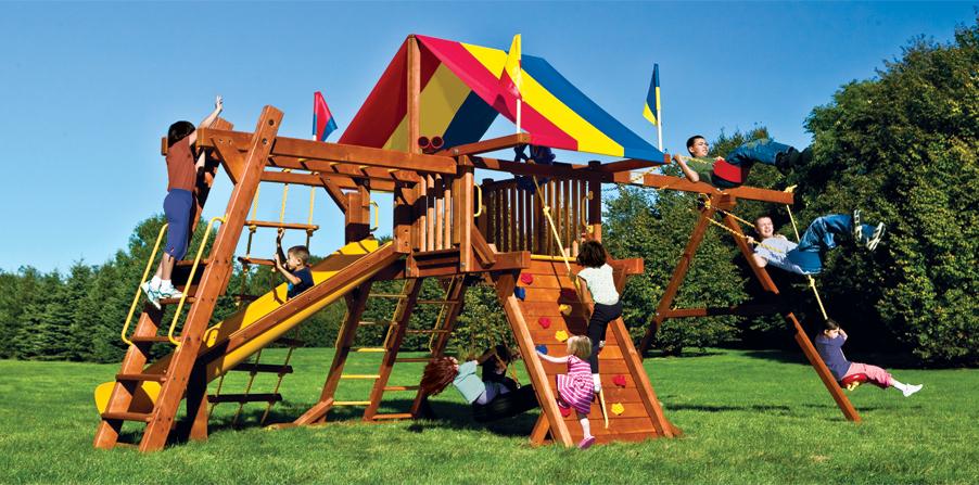 Детская площадка Rainbow летом