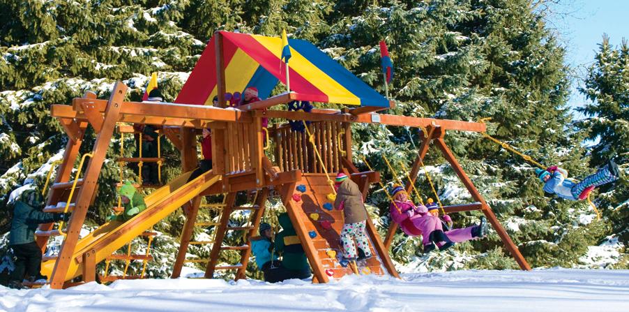 Детская площадка Rainbow зимой