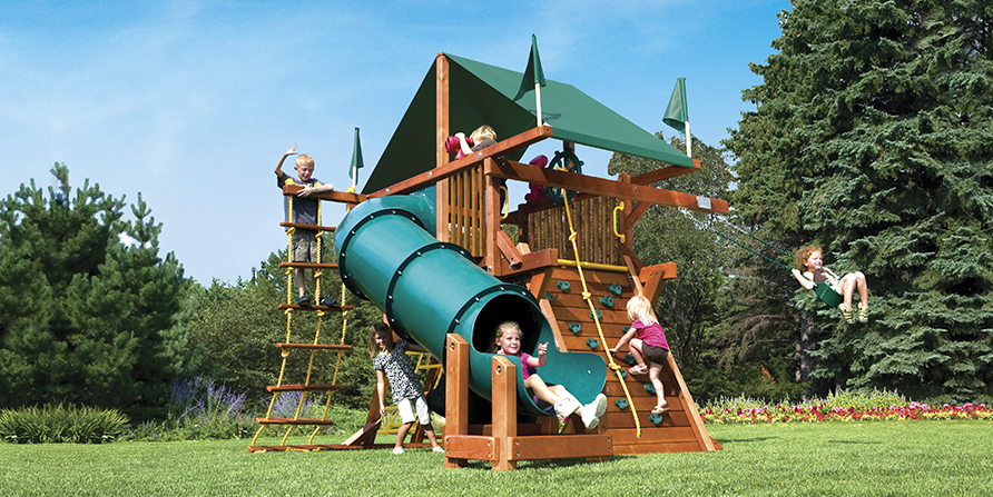 48C Sunshine Castle I Spacesaver 90 Tube Slide