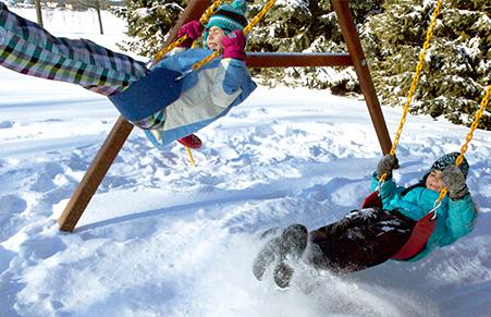 Rainbow - отличное зимнее развлечение для детей!