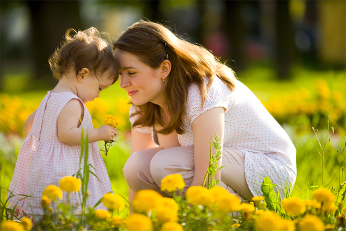 Мама и дочка
