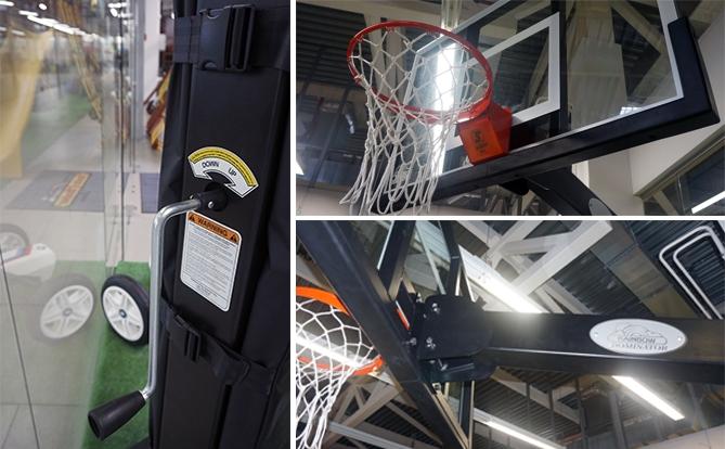 Металлическая баскетбольная стойка