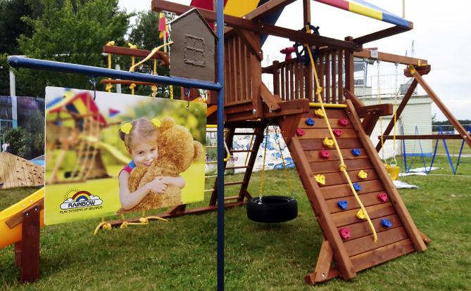 Детская площадка за день до мероприятия